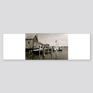 Menemsha Black & White Sticker (Bumper)