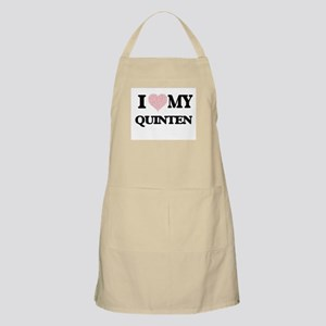I Love my Quinten (Heart Made from Love my w Apron