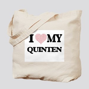 I Love my Quinten (Heart Made from Love m Tote Bag