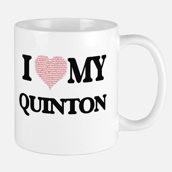 I Love my Quinton (Heart Made from Love my wo Mugs
