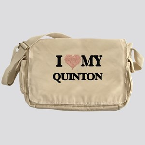 I Love my Quinton (Heart Made from L Messenger Bag