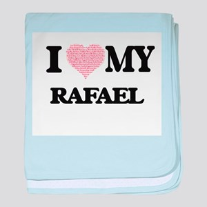 I Love my Rafael (Heart Made from Lov baby blanket