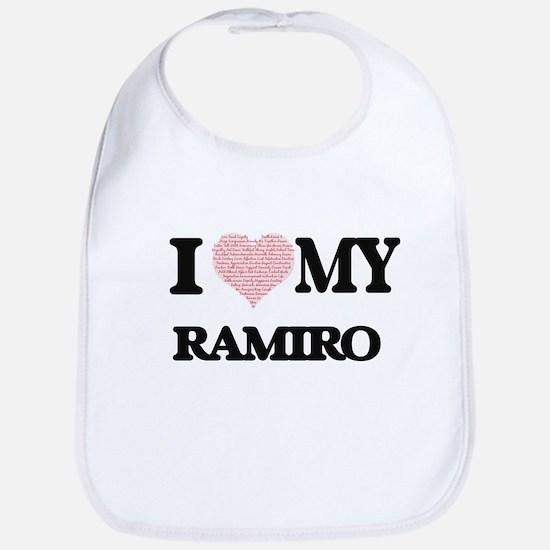 I Love my Ramiro (Heart Made from Love my word Bib