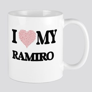 I Love my Ramiro (Heart Made from Love my wor Mugs