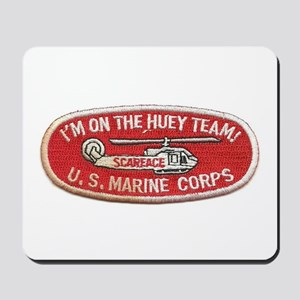 Scarface I'm On The Huey Team Helicopter Mousepad