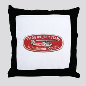Scarface I'm On The Huey Team Helicop Throw Pillow