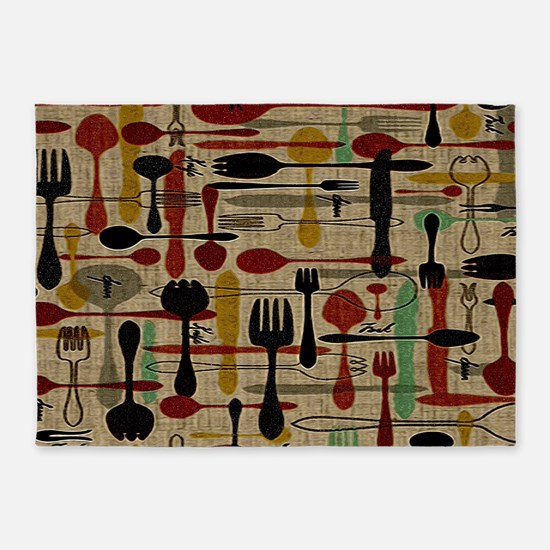 Spoons & Forks 5'x7'Area Rug