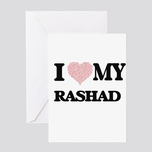 I Love my Rashad (Heart Made from L Greeting Cards
