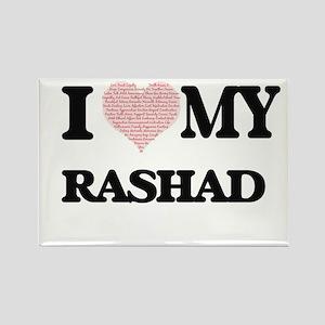 I Love my Rashad (Heart Made from Love my Magnets