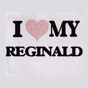 I Love my Reginald (Heart Made from Throw Blanket