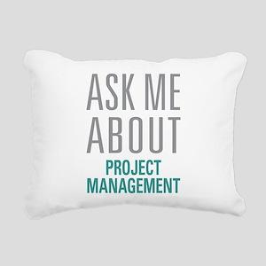 Project Management Rectangular Canvas Pillow