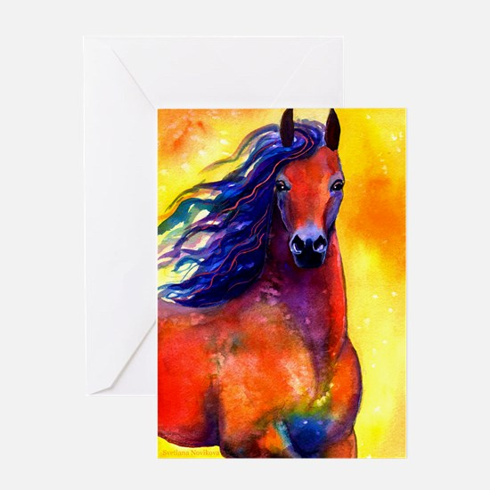 Cute Equine breeds Greeting Card
