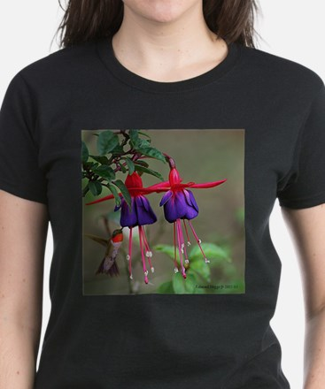 Fuchsia and Hummingbird T-Shirt