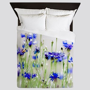 So Many Flowers, So Little Time Queen Duvet