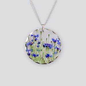So Many Flowers, So Little T Necklace Circle Charm