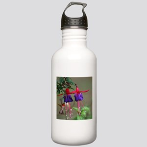 Fuchsia and Hummingbir Stainless Water Bottle 1.0L