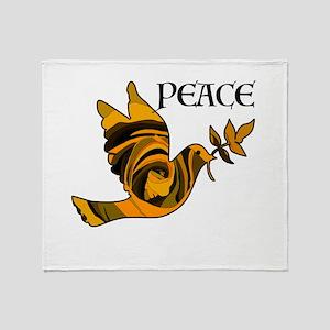 Peace Dove-Gld Throw Blanket