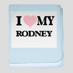 I Love my Rodney (Heart Made from Lov baby blanket