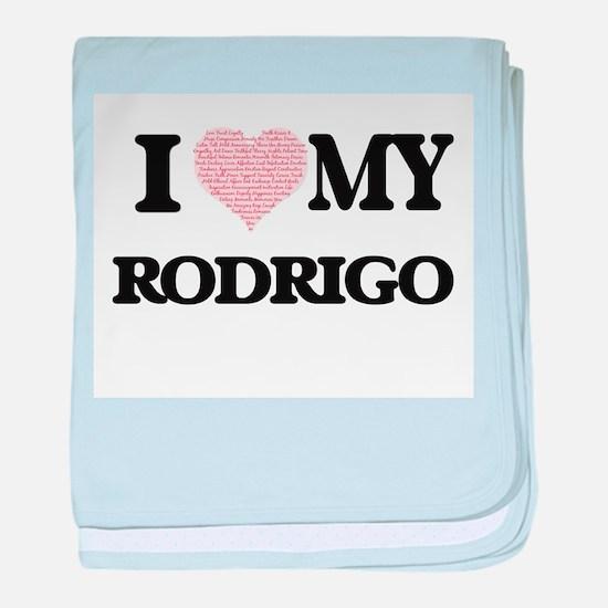 I Love my Rodrigo (Heart Made from Lo baby blanket