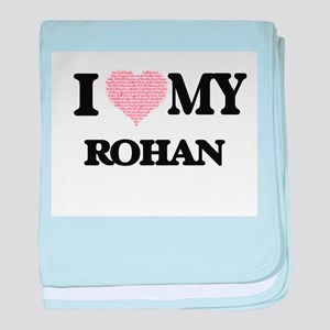 I Love my Rohan (Heart Made from Love baby blanket