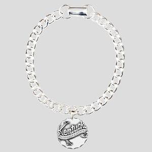 Kentucky (black) Charm Bracelet, One Charm