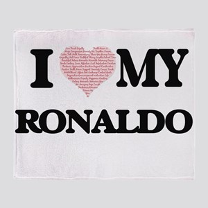 I Love my Ronaldo (Heart Made from L Throw Blanket