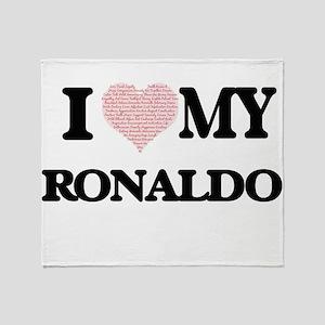 I Love my Ronaldo (Heart Made from L Throw Blanket
