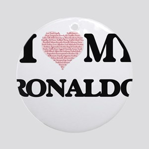 I Love my Ronaldo (Heart Made from Round Ornament