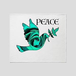 Peace Dove-GRN Throw Blanket