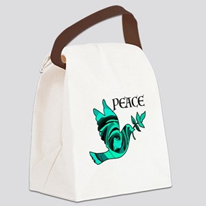 Peace Dove-GRN Canvas Lunch Bag