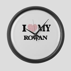 I Love my Rowan (Heart Made from Large Wall Clock