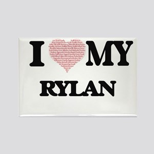 I Love my Rylan (Heart Made from Love my w Magnets