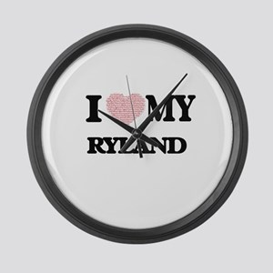 I Love my Ryland (Heart Made from Large Wall Clock