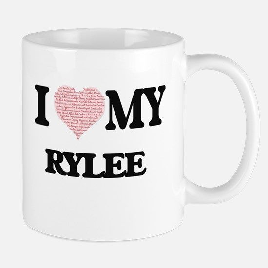 I Love my Rylee (Heart Made from Love my word Mugs