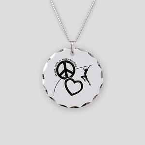 P-L-POLE VAULTING Necklace Circle Charm