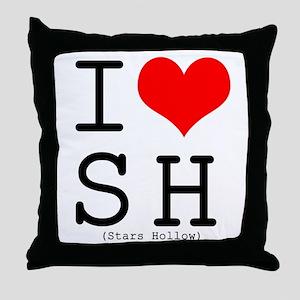 I <3 Stars Hollow Throw Pillow