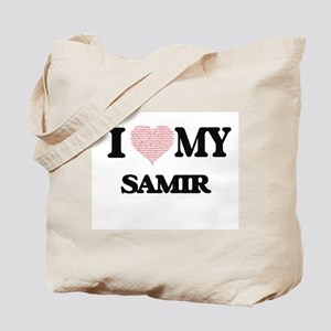 I Love my Samir (Heart Made from Love my Tote Bag