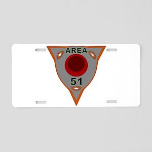 Area 51 Reverse Engineering Aluminum License Plate