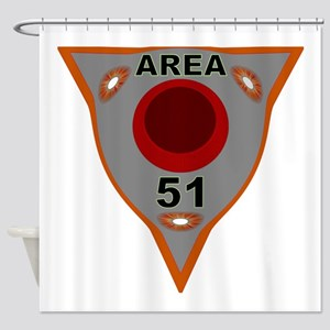 Area 51 Reverse Engineering Shower Curtain