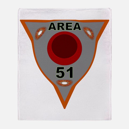 Area 51 Reverse Engineering Throw Blanket