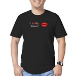 I Love Kisses Men's Fitted T-Shirt (dark)