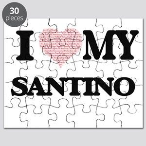 I Love my Santino (Heart Made from Love my Puzzle