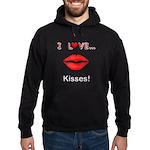 I Love Kisses Hoodie (dark)