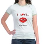 I Love Kisses Jr. Ringer T-Shirt