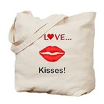 I Love Kisses Tote Bag