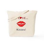 I Love Kisses Tote Bag