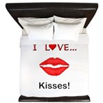 I Love Kisses King Duvet