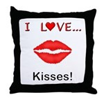 I Love Kisses Throw Pillow