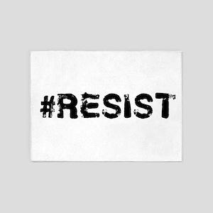 #RESIST Stamp Black 5'x7'Area Rug