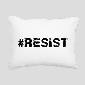 #RESIST Stamp Black Rectangular Canvas Pillow